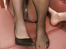 foot-fetish nylon panties