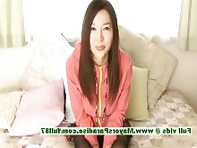 brunette chinese dildo innocent japanese masturbation nylon pussy
