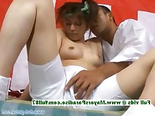 licking pussy teen uniform beauty brunette japanese